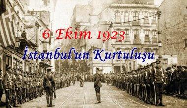 6 Ekim İstanbul'un Kurtuluşu